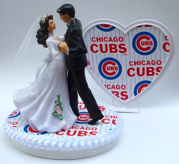 Cubs cake topper wedding Chicago baseball FunWeddingThings.com