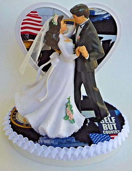 Navy groom's cake top USN U.S. military Fun Wedding Things wedding cake topper enlisted serviceman