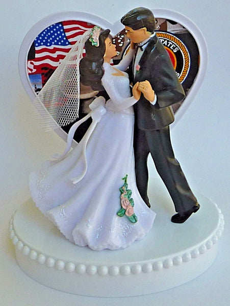 Marines cake topper wedding USMC military Fun Wedding Things enlisted service bride groom dancing pretty unique original fun