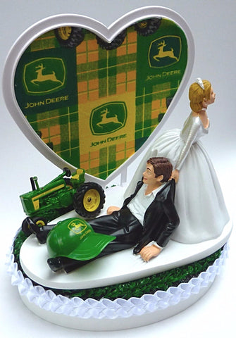 John Deere wedding cake topper Fun Wedding things tractor cap humorous