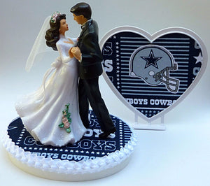 Cowboys cake topper Dallas wedding football NFL bride groom heart pretty sports fans Fun Wedding Things