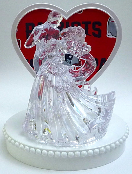 FunWeddingThings.com New England Patriots football wedding cake topper