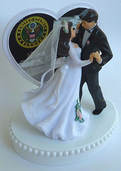 Army wedding cake top groom's cake topper Fun Wedding Things U.S. military enlisted service pretty reception bridal shower gift party