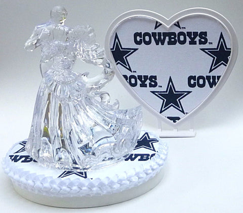 Football wedding cake topper NFL FunWeddingThings.com sports fans bride groom pretty