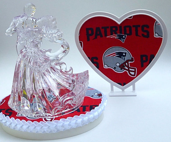 Patriots wedding cake topper FunWeddingThings.com