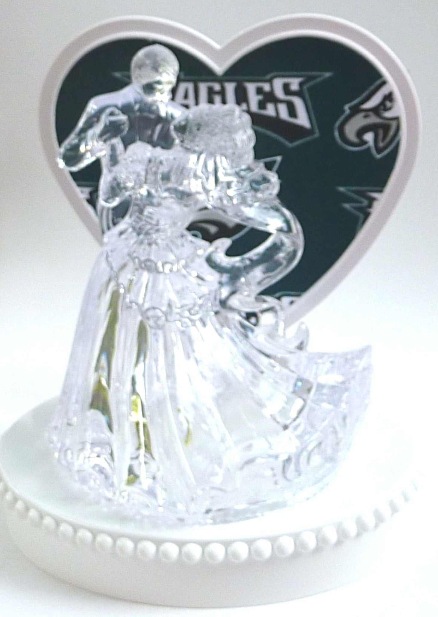 Wedding Cake Topper - Philadelphia Eagles Football Themed Clear ...