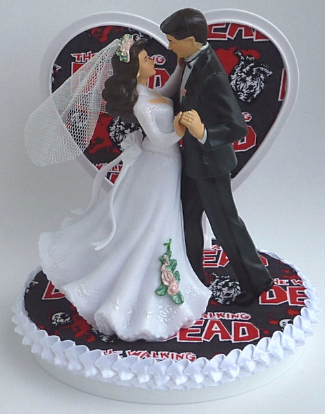 The Walking Dead cake topper wedding Fun Wedding Things bride groom dancing zombies unique reception