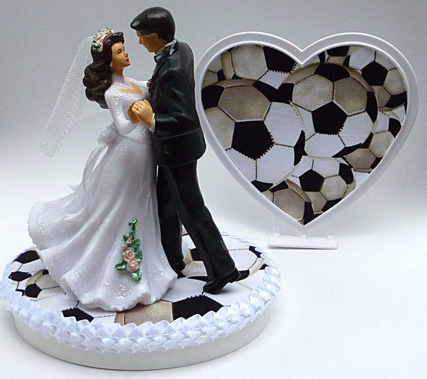 Soccer cake topper Fun Wedding Things wedding groom's cake top bride dancing heart reception bridal shower gift party idea