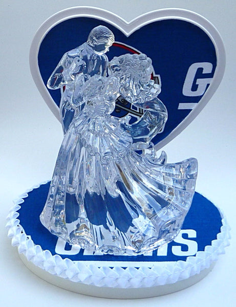 New York Giants cake topper groom's cake top FunWeddingThings.com football