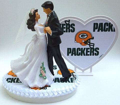 Fun Wedding Things Green Bay Packers groom's cake top football sporty bride groom dancing reception gift shower item