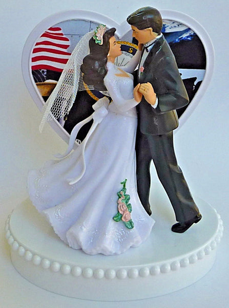 Navy wedding cake topper USN military Fun Wedding Things U.S. service enlisted bride groom dancing pretty unique