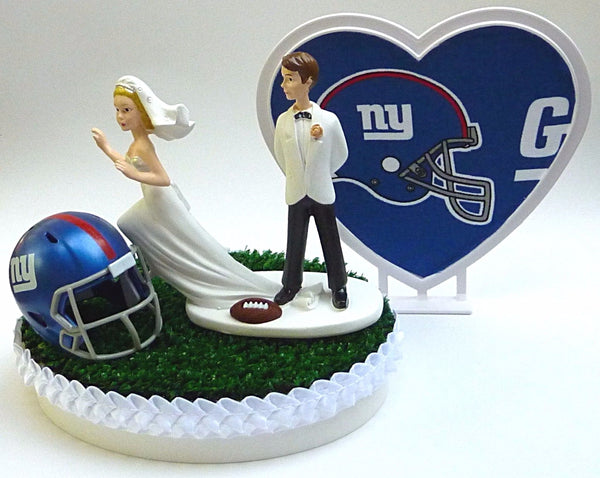 Giants cake topper wedding NY football New York Fun Wedding Things funny bride runaway groom's top humorous
