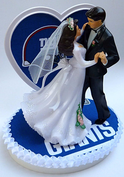 NY Giants wedding cake topper New York football groom's cake top NFL pretty reception Fun Wedding Things