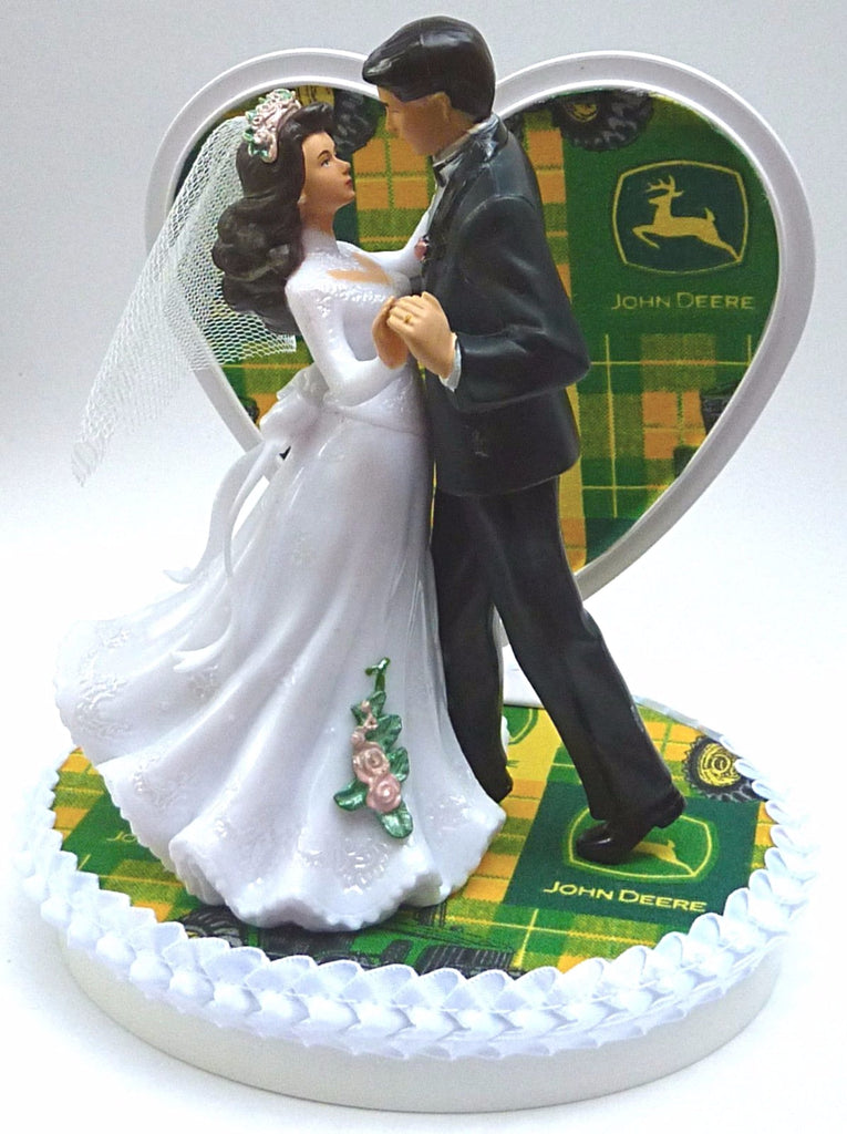 Wedding Cake Topper - John Deere Tractor Farmer Farming Themed ...