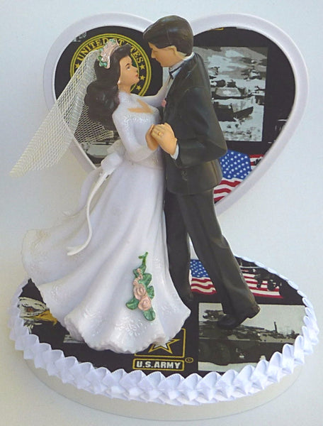 U.S. Army wedding cake topper Fun Wedding Things enlisted service military unique dance bride groom reception shower gift bridal