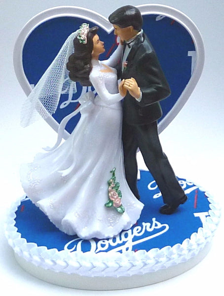 Dodgers wedding cake topper LA Los Angeles dancing
