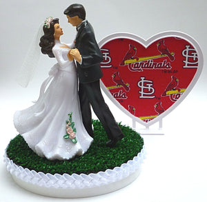 St. Louis Cardinals cake topper wedding MLB baseball FunWeddingThings.com