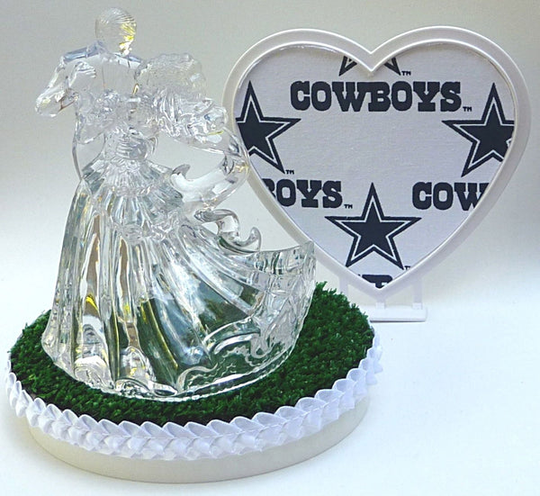 Green grass wedding cake topper FunWeddingThings.com turf NFL football fans unique groom's cake top