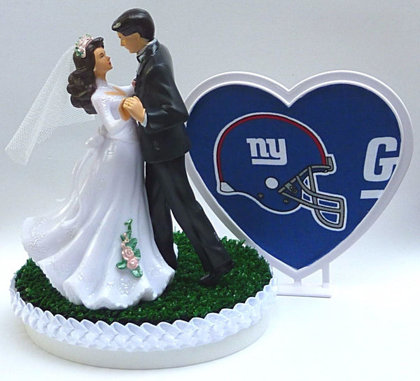 New York Giants cake topper wedding NY green turf heart pretty bride groom dancing reception gift shower Fun Wedding Things