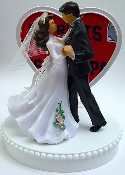 New England Patriots wedding cake top football topper bride groom gift reception Fun Wedding Things