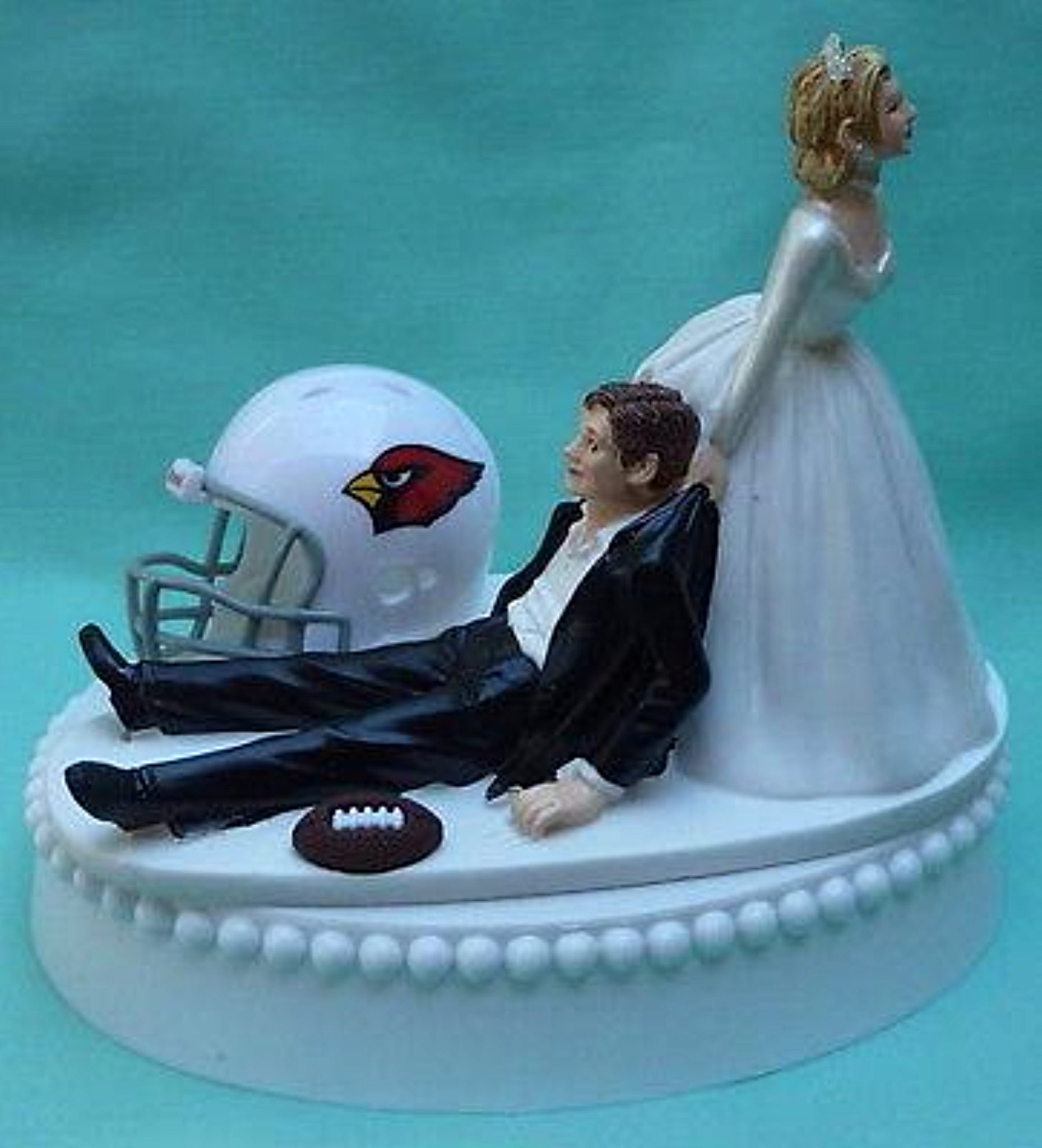 Arizona Cardinals Wedding Cake Topper FunWeddingThings.com Football Fans Fun Sporty