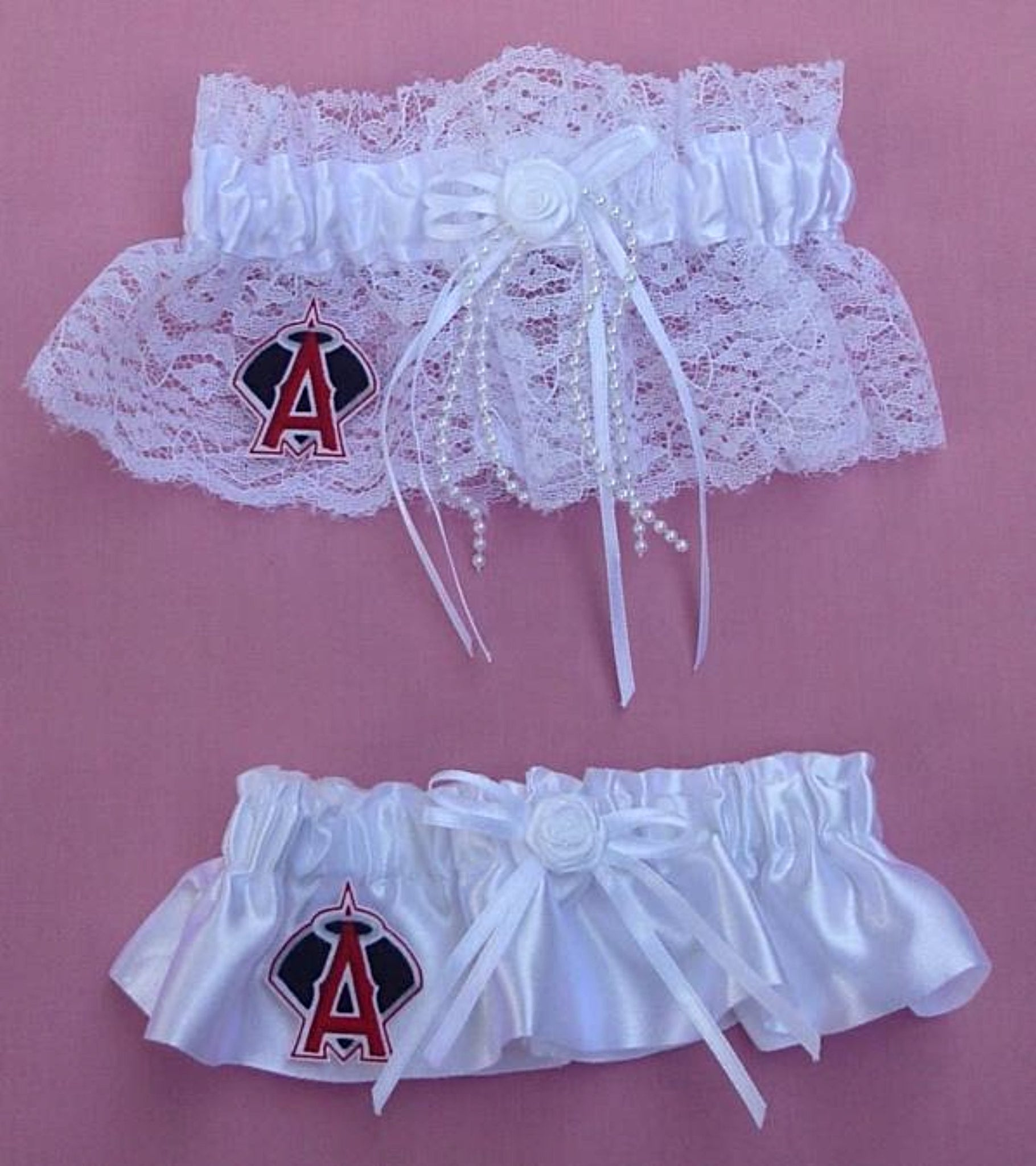 Houston Astros garter bridal set wedding keepsake toss MLB baseball sports fans Fun Wedding Things