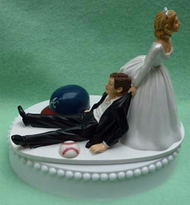 Wedding Cake Topper - Atlanta Braves Baseball Themed