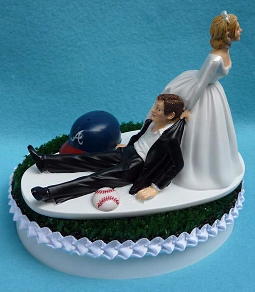 Atlanta Braves wedding cake topper groom's cake top MLB baseball sports fans funny humorous