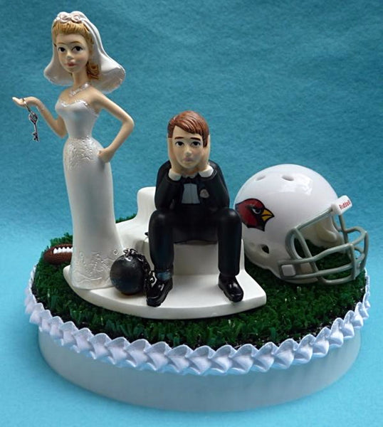 Wedding Cake Topper - Arizona Cardinals Football Themed Key
