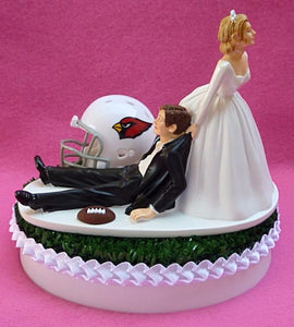 Arizona Cardinals cake topper football Turf Top groom's cake top FunWeddingThings.com