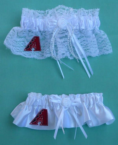 Arizona Diamondbacks garter wedding garters bridal D-Backs DBacks set MLB baseball sports fans reception bride toss groom keep Fun Wedding Things