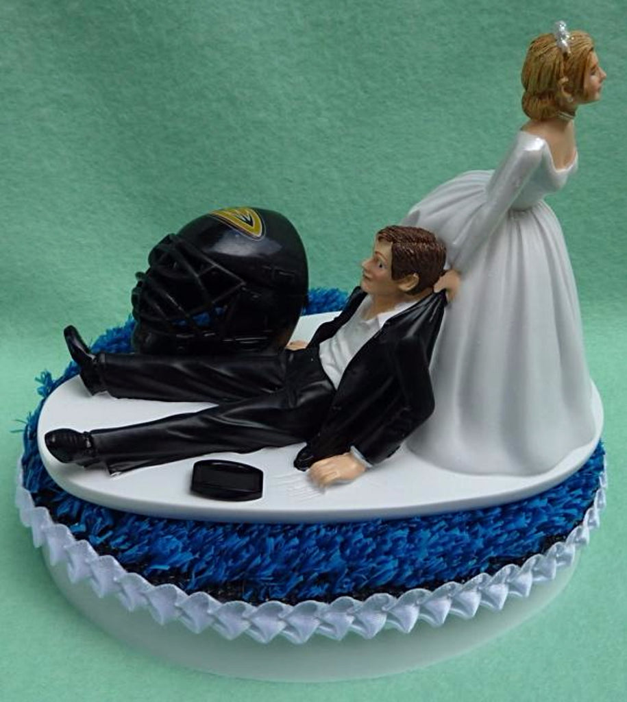 Wedding Cake Topper Vegas Golden Knights Hockey Themed We Do Have