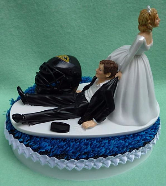 Wedding Cake Topper - Anaheim Ducks Hockey Themed