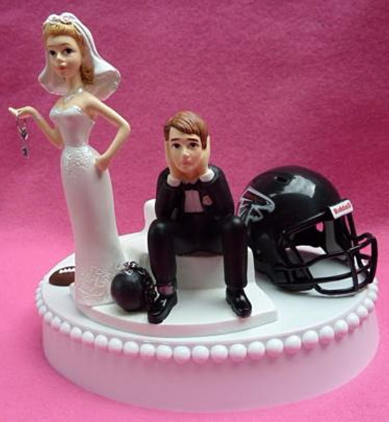 Wedding Cake Topper - Atlanta Falcons Football Themed Key