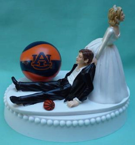 Auburn University basketball wedding cake topper AU Tigers funny bride groom humorous sports fans Fun Wedding Things