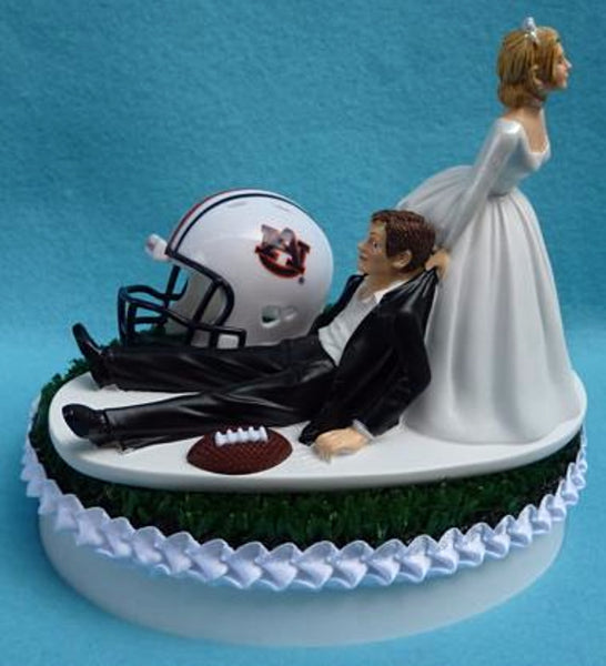Wedding Cake Topper - Auburn University Tigers Football Themed AU