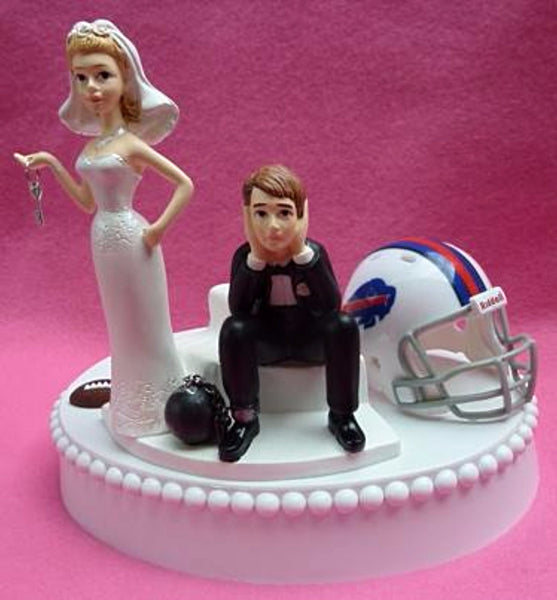 Wedding Cake Topper - Buffalo Bills Football Themed Key