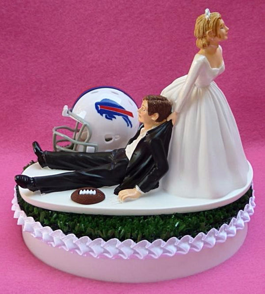 Buffalo Bills wedding cake topper Turf Top groom's top FunWeddingThings.com NFL football humorous funny sports fans reception