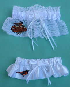 Baltimore Orioles Garter Wedding Garters Bridal Set O's MLB Baseball Sports Fan Reception Fun