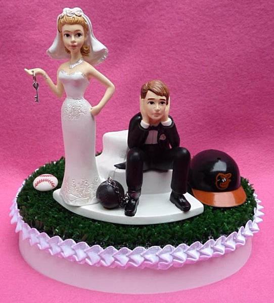 Wedding Cake Topper - Baltimore Orioles Baseball Themed Key