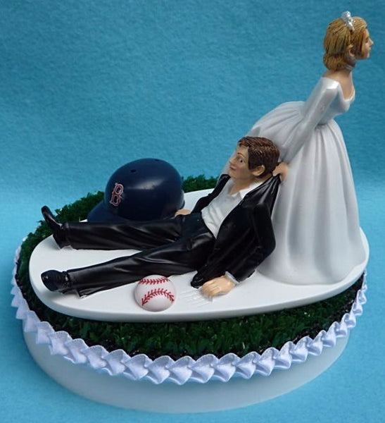 Wedding Cake Topper - Boston Red Sox Baseball Themed