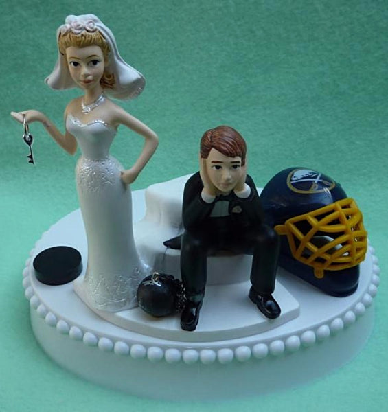 Wedding Cake Topper - Buffalo Sabres Hockey Themed Key