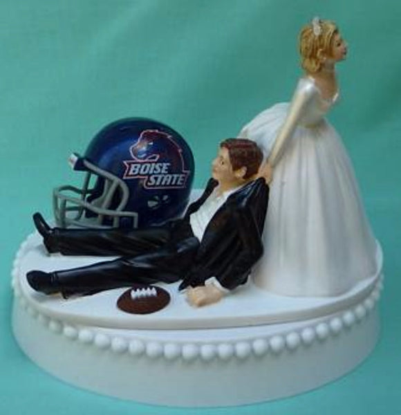 Wedding Cake Topper - Boise St. University Broncos Football Themed State BSU