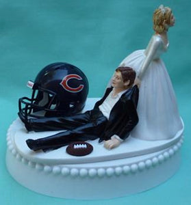 Chicago Bears wedding cake topper football fans NFL fun reception