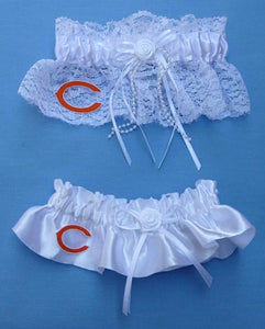 Chicago Bears Wedding Garter Set Football Bridal NHL