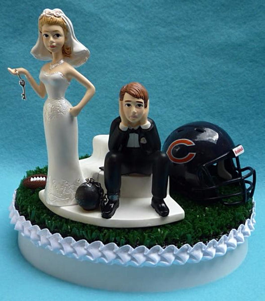 Wedding Cake Topper - Chicago Bears Football Themed Key