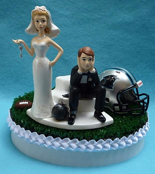 Wedding Cake Topper - Carolina Panthers Football Themed Key