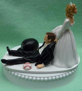 Wedding Cake Topper - Colorado Rockies Baseball Themed