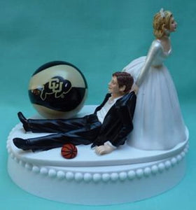 Colorado basketball wedding cake topper University of Buffaloes CU Buffs funny bride groom humorous Fun Wedding Things