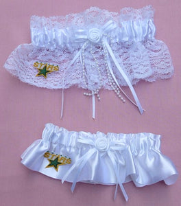 Dallas Stars Wedding Garter NHL Hockey Bridal Garters Sports Reception Fun Fans